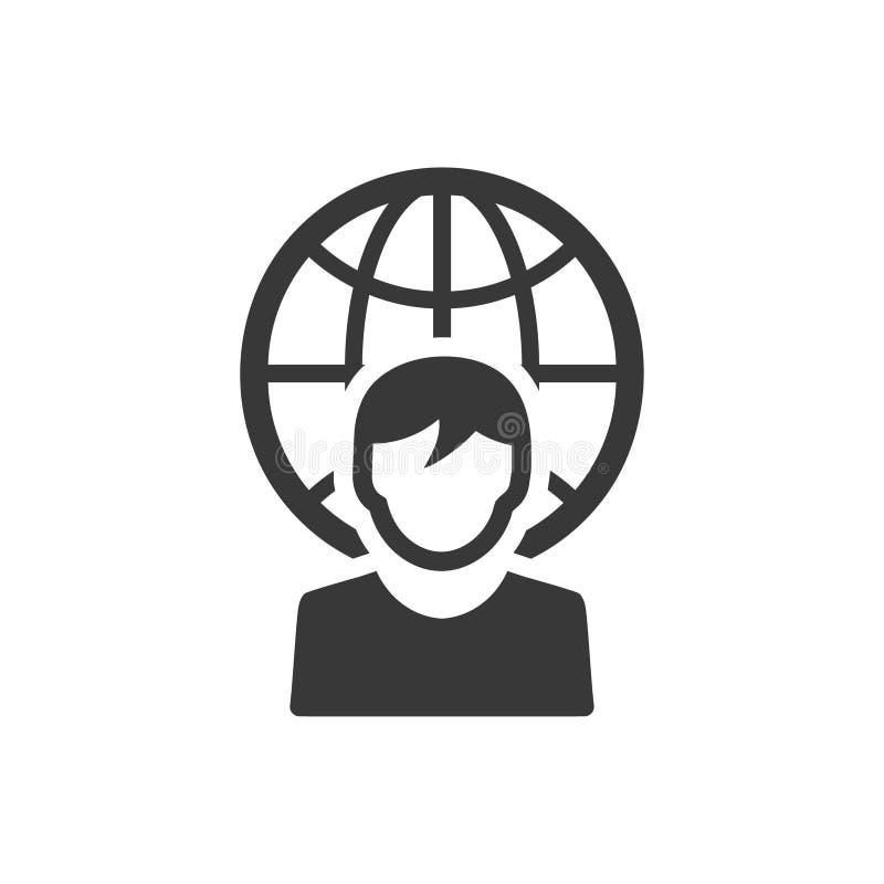 Symbol för anslutning för global affär vektor illustrationer