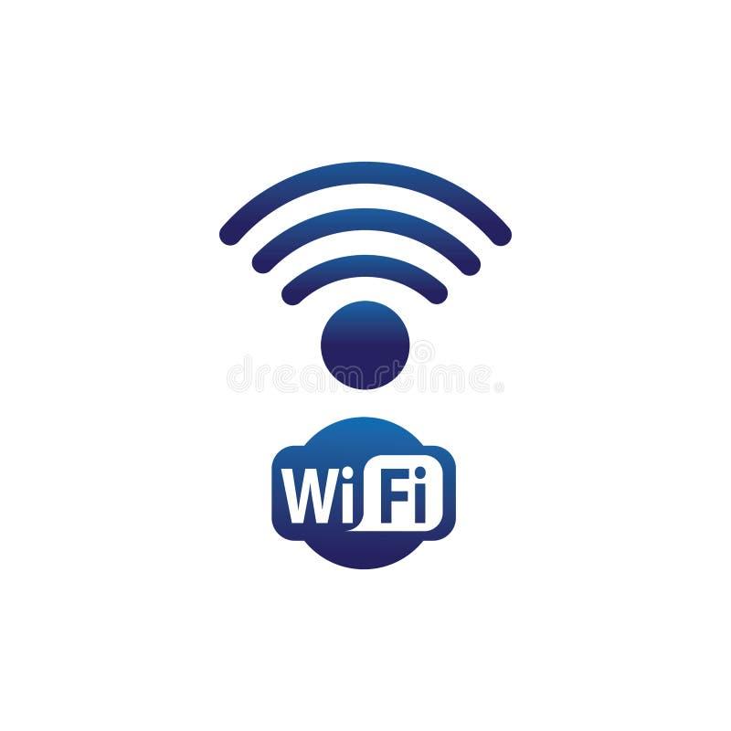 Symbol för anslutning för Wifi symbol trådlös royaltyfri illustrationer