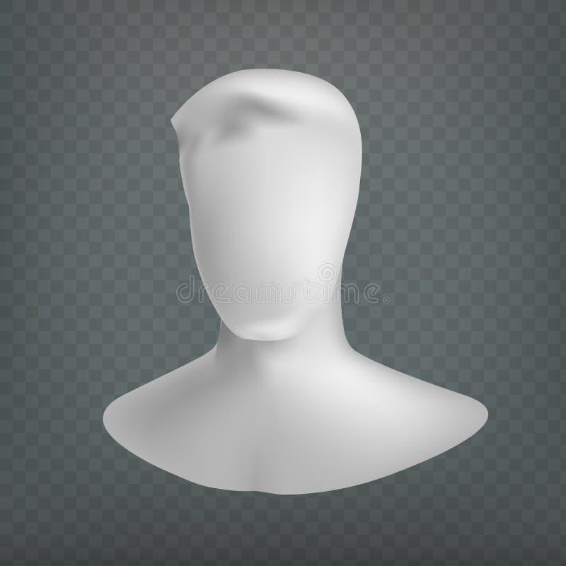 Symbol för användare för materielvektorillustration isolerat på en genomskinlig bakgrund Skyltdockahuvud Inget vända mot manen EP stock illustrationer