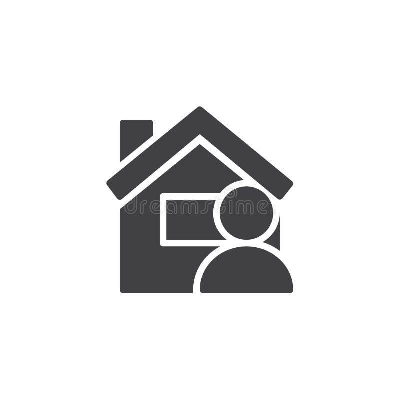 Symbol för användarehemsidavektor stock illustrationer