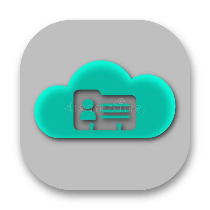 Symbol för App för molnkontaktdatabas stock illustrationer