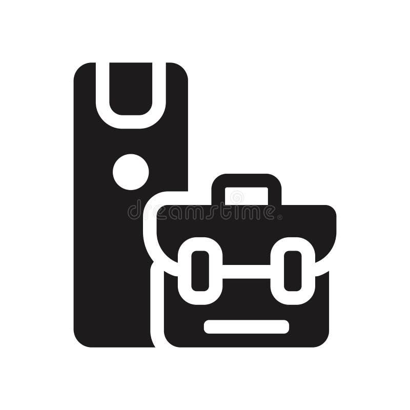 Symbol för apparatchef Moderiktigt begrepp för logo för apparatchef på vit stock illustrationer