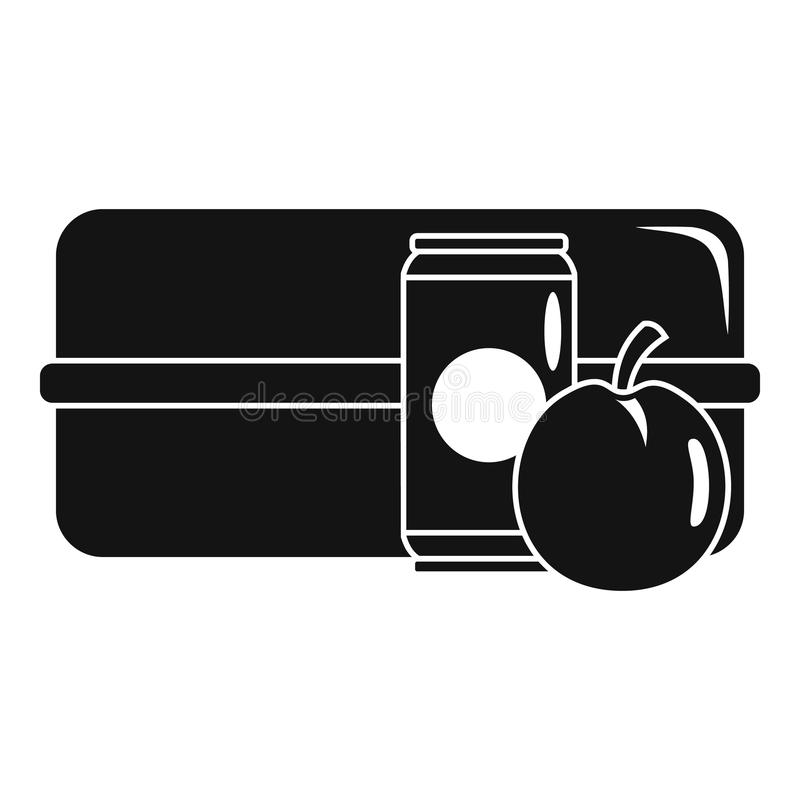 Symbol för Apple colaask, enkel stil stock illustrationer
