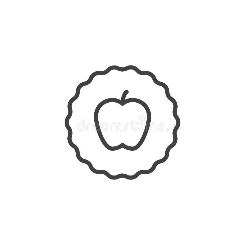 Symbol för Apple fruktöversikt vektor illustrationer