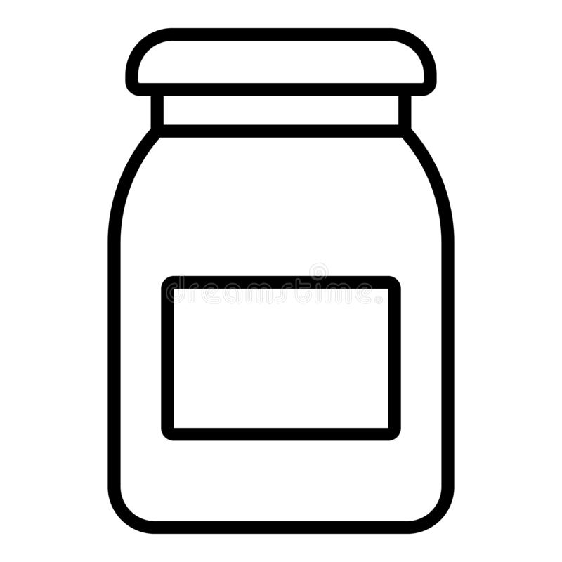 Symbol för aprikosdriftstoppkrus, översiktsstil royaltyfri illustrationer
