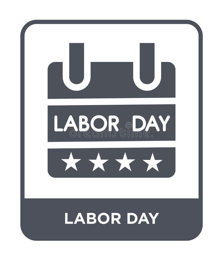 symbol för arbets- dag i moderiktig designstil symbol för arbets- dag som isoleras på vit bakgrund för vektorsymbol för arbets- d vektor illustrationer