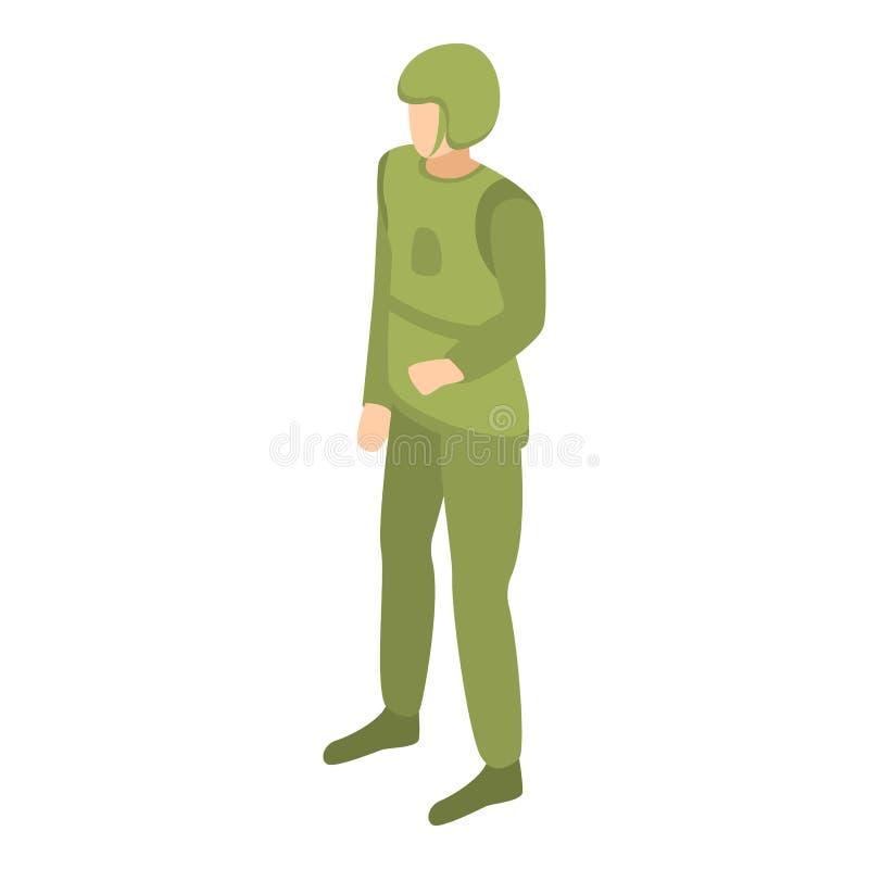 Symbol för arméflygvapenman, isometrisk stil stock illustrationer