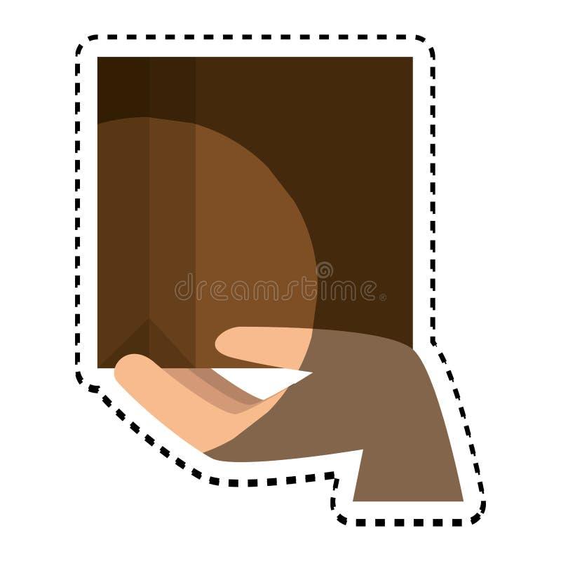 symbol för asklådaemballage vektor illustrationer