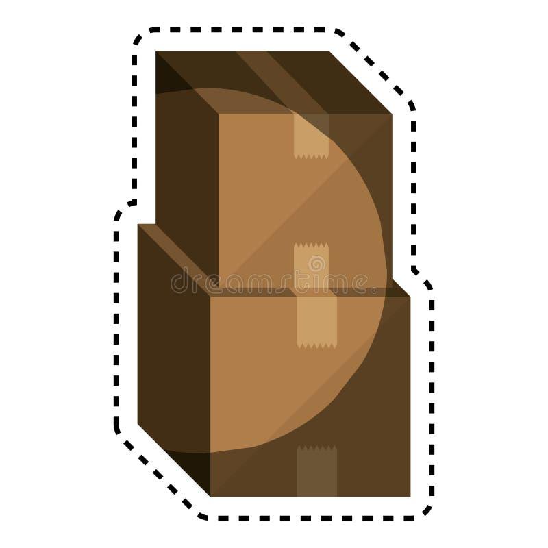 symbol för asklådaemballage stock illustrationer