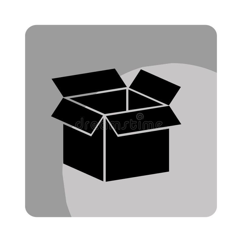 symbol för asklådaemballage royaltyfri illustrationer