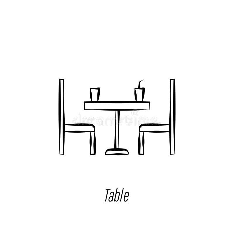Symbol f?r attraktion f?r hand f?r kaffetabell Best?ndsdel av kaffeillustrationsymbolen Tecknet och symboler kan anv?ndas f?r ren vektor illustrationer