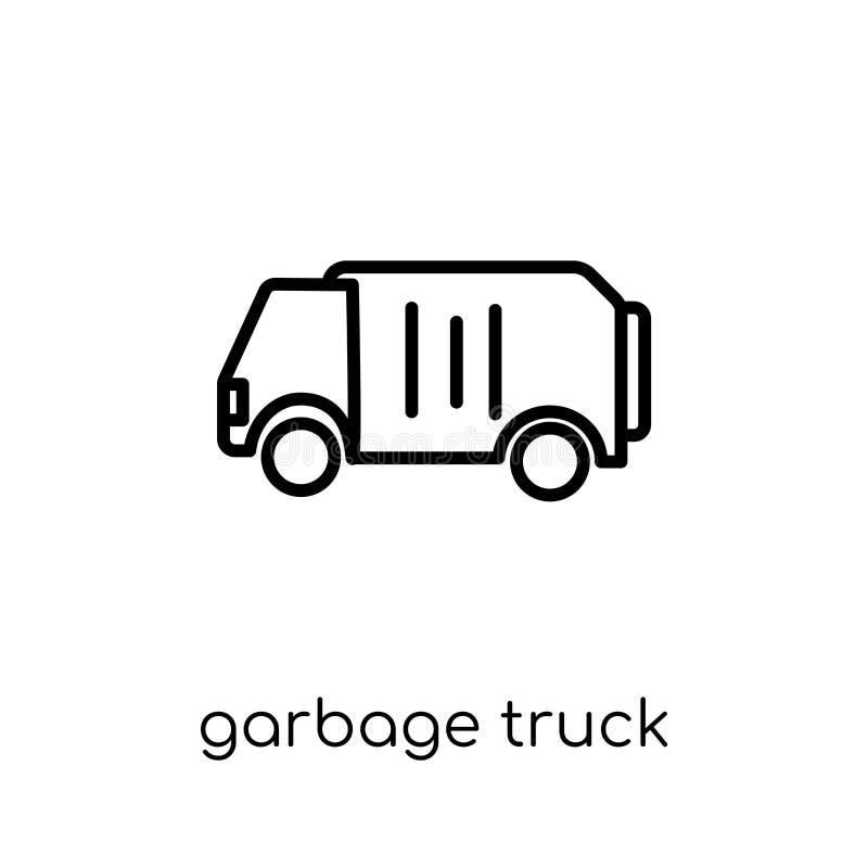 Symbol för avskrädelastbil  stock illustrationer