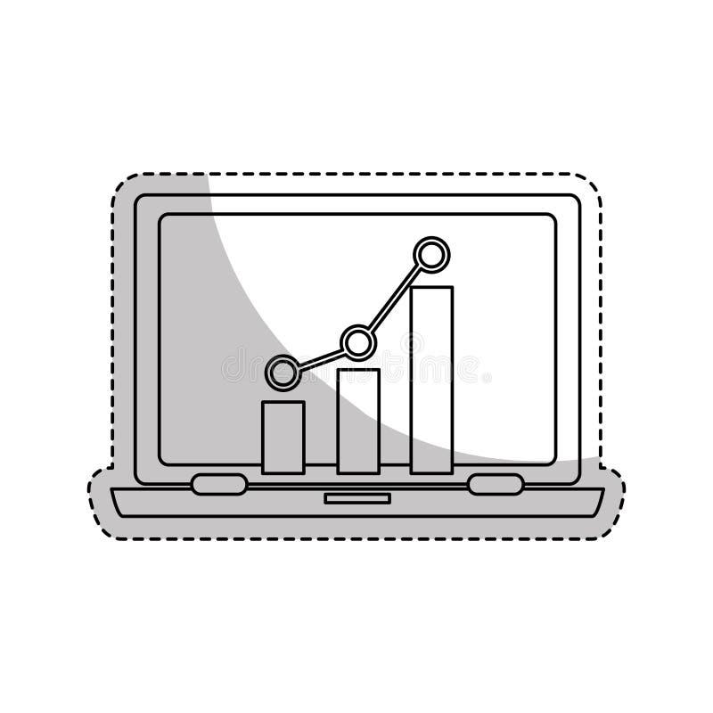 Symbol för bärbar datordator vektor illustrationer