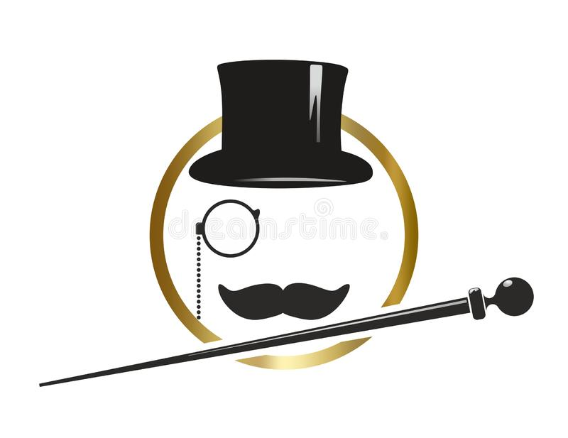Symbol för bästa hatt royaltyfria foton
