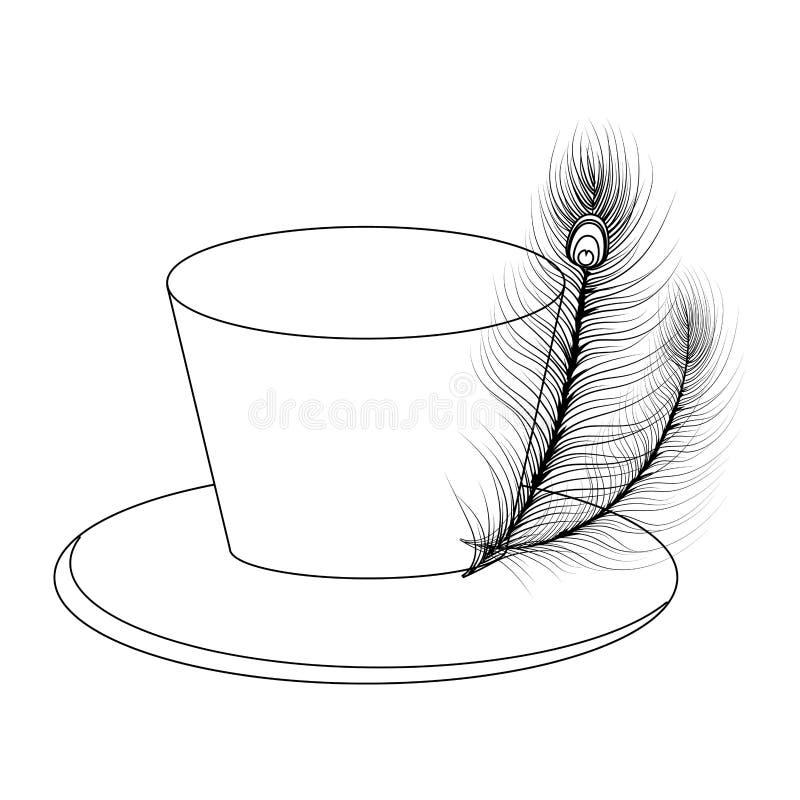 Symbol för bästa hatt royaltyfri illustrationer