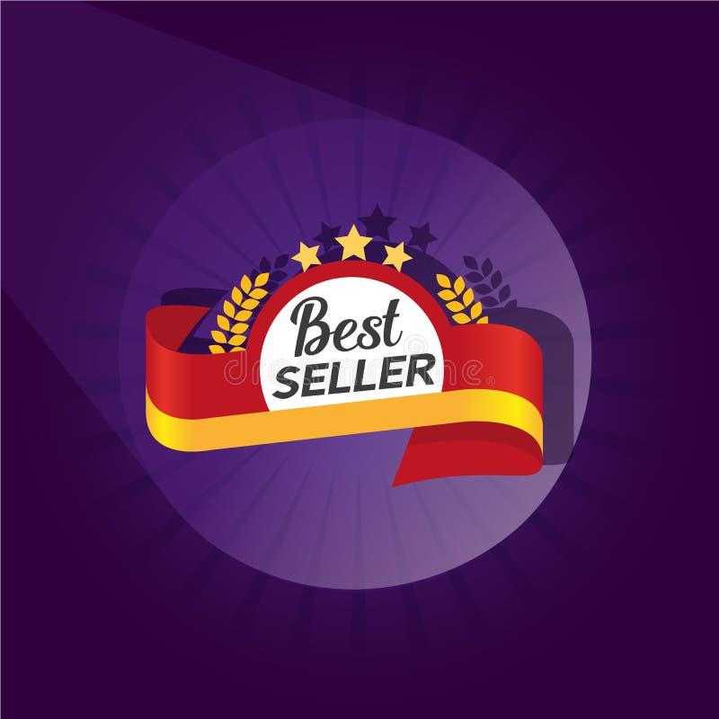 Symbol för bästa säljare vektor illustrationer