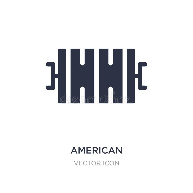 symbol för bästa sikt för fält för amerikansk fotboll på vit bakgrund Enkel beståndsdelillustration från begrepp för amerikansk f royaltyfri illustrationer