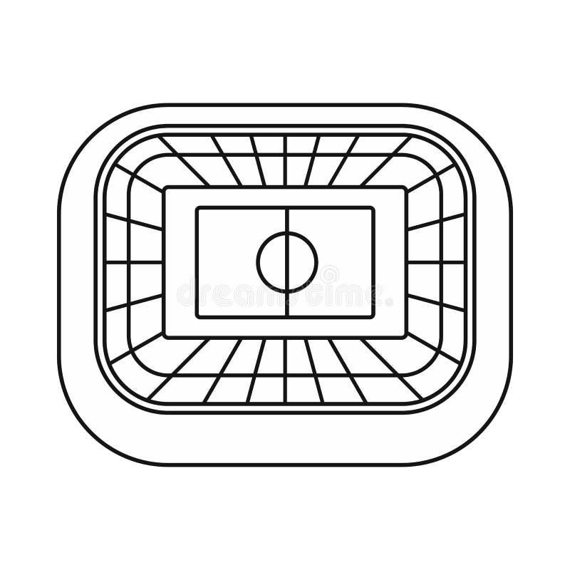Symbol för bästa sikt för stadion, översiktsstil vektor illustrationer