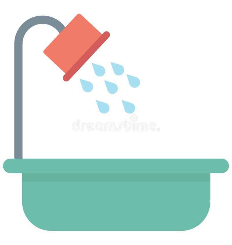 Symbol för badkarfärgvektor som kan lätt ändras eller redigera symbolen för badkarfärgvektorn, som kan lätt ändras eller redigera stock illustrationer