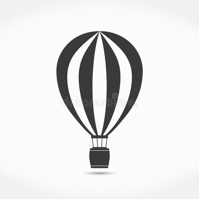 Symbol för ballong för varm luft vektor illustrationer