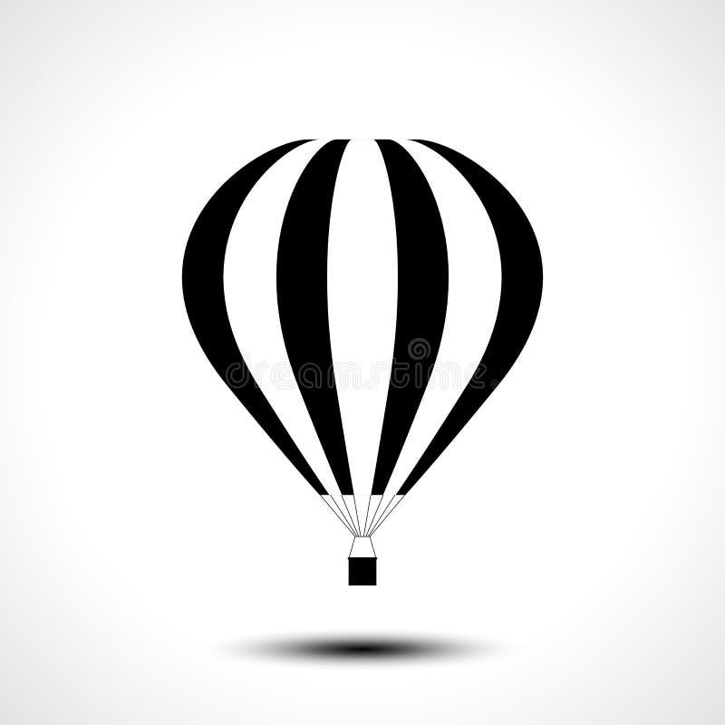Symbol för ballong för varm luft royaltyfri illustrationer