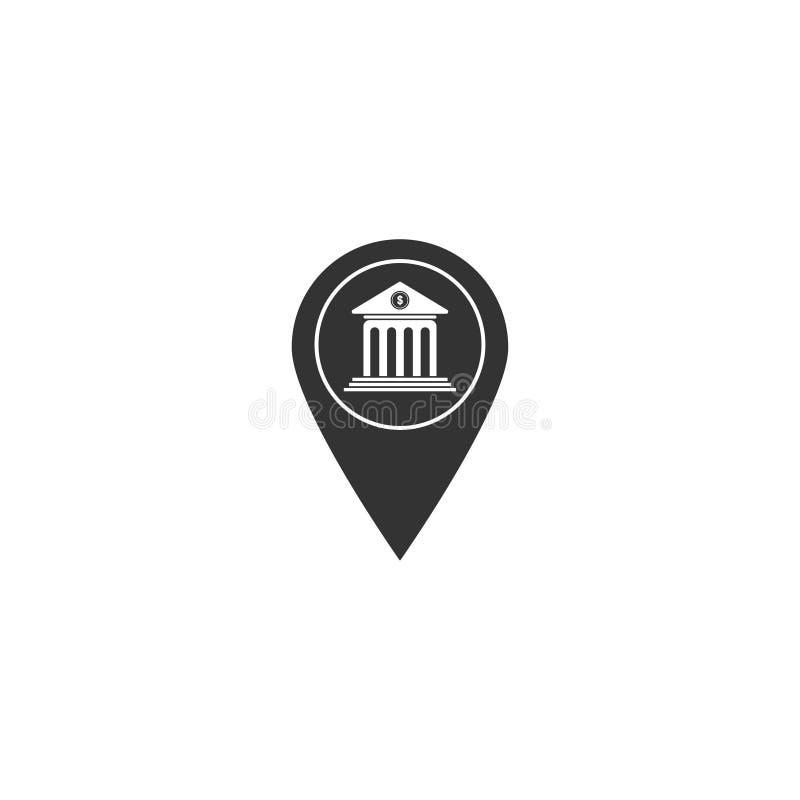 Symbol för banköversiktspekare i enkel design också vektor för coreldrawillustration royaltyfri illustrationer