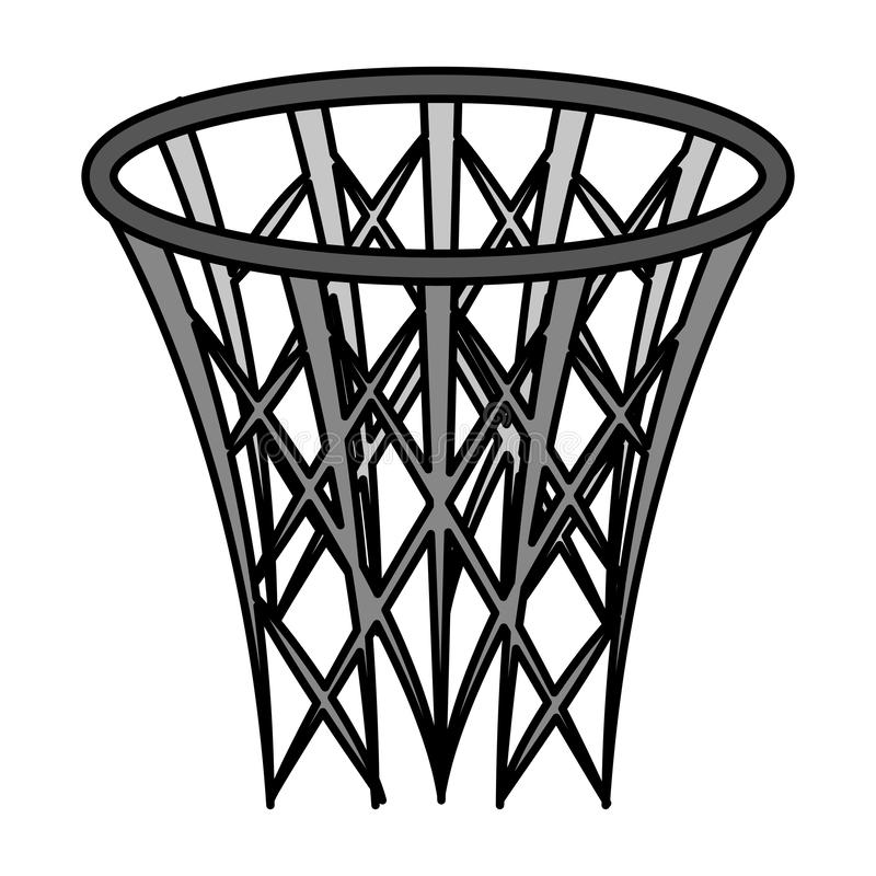 Symbol för basketkorgsport stock illustrationer