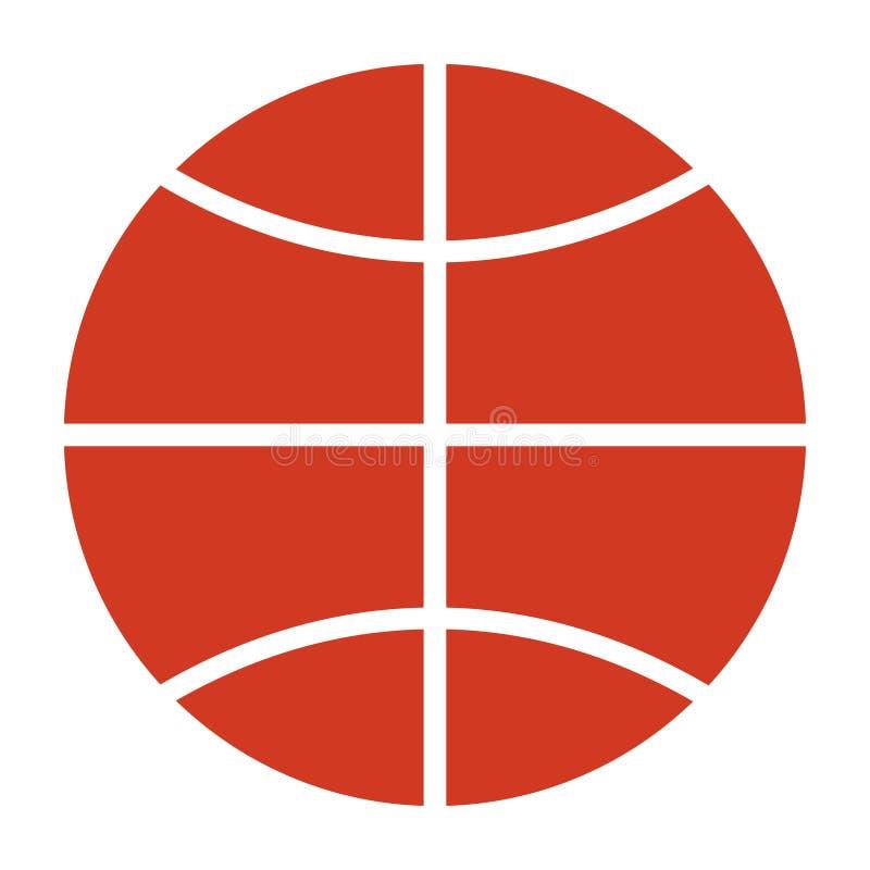 Symbol för basketmatchboll på vit bakgrund royaltyfri illustrationer