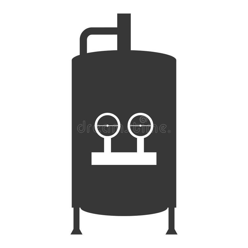 Symbol för behållare för vattenvärmeapparat royaltyfri illustrationer