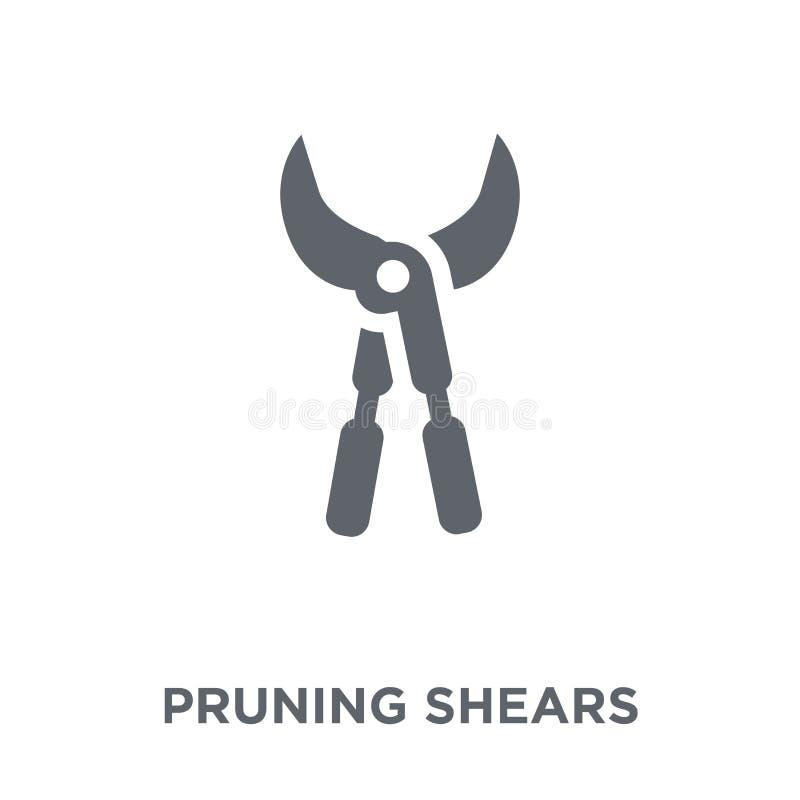 Symbol för beskära sax från åkerbrukt och att bruka och arbeta i trädgården coll vektor illustrationer