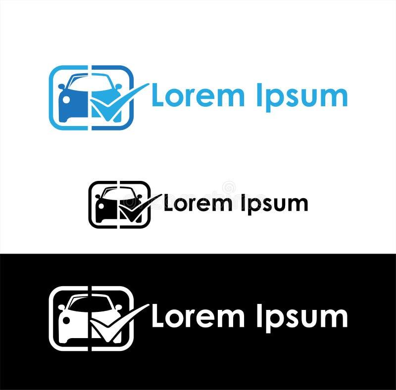 Symbol för bilåterförsäljare och bilindustri royaltyfri illustrationer