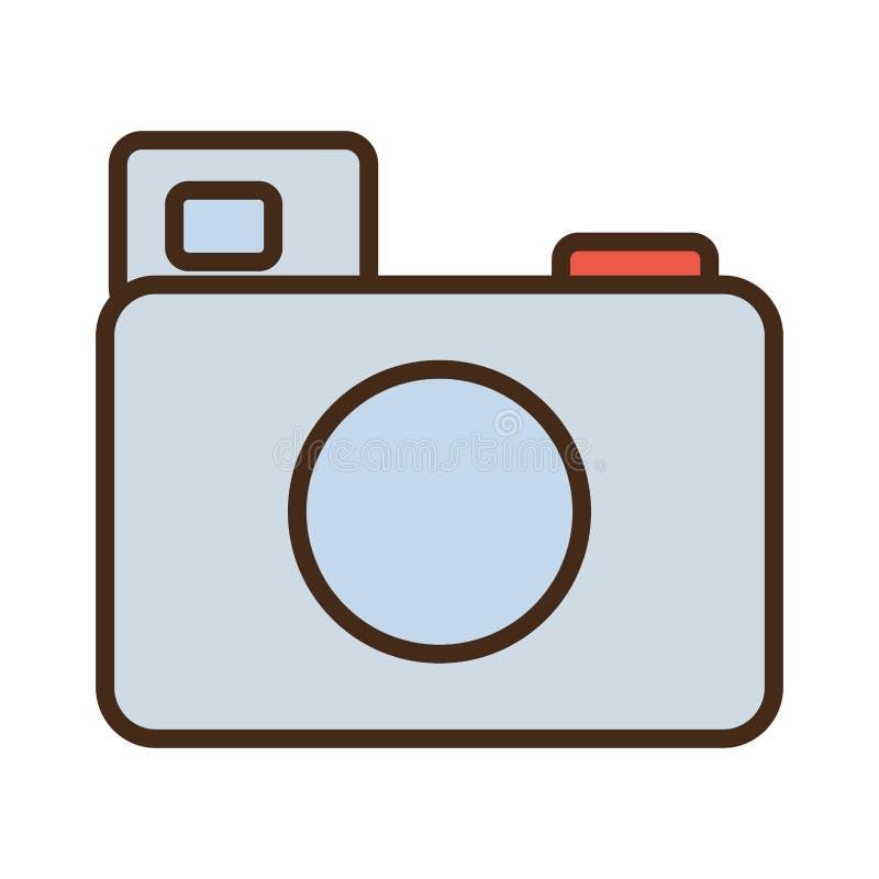 symbol för bild för bild för tecknad filmfotokamera stock illustrationer