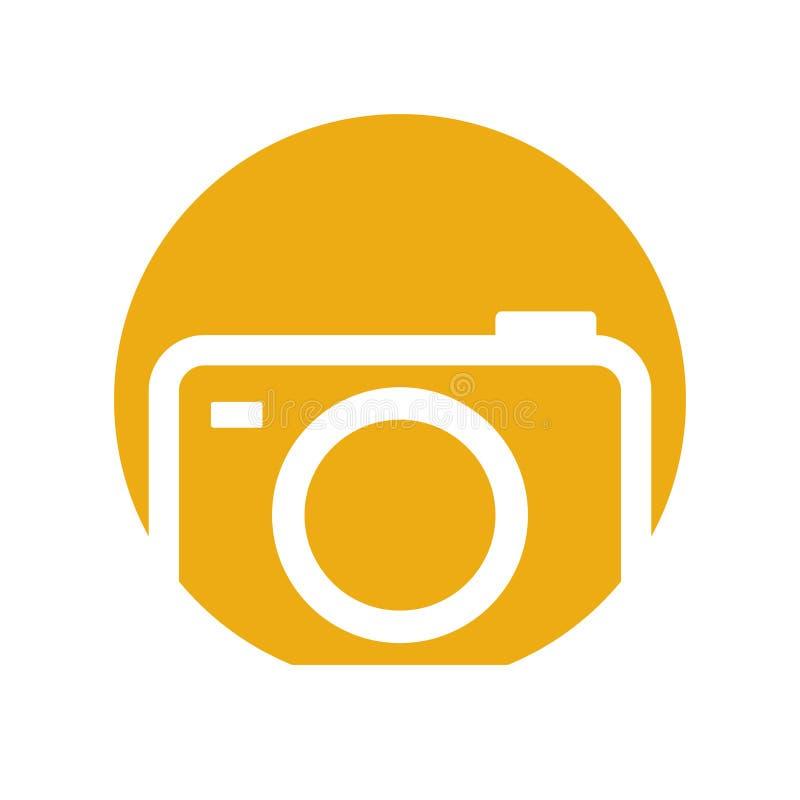 Symbol för bild för fotokamerabild stock illustrationer