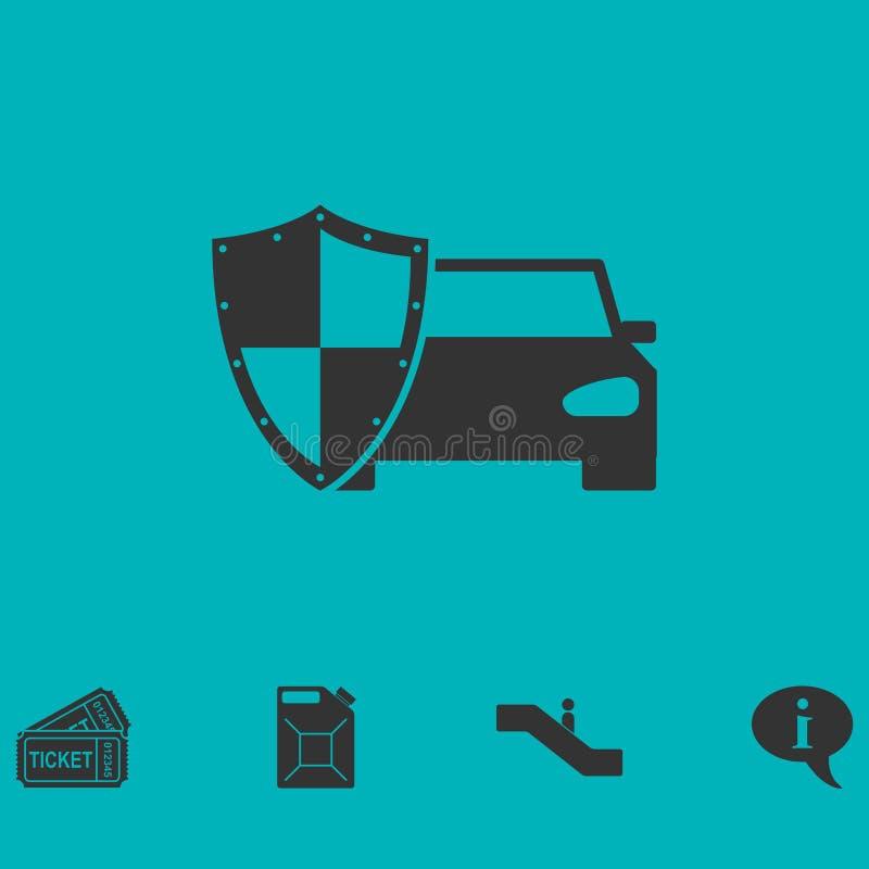 Symbol för bilförsäkring framlänges vektor illustrationer