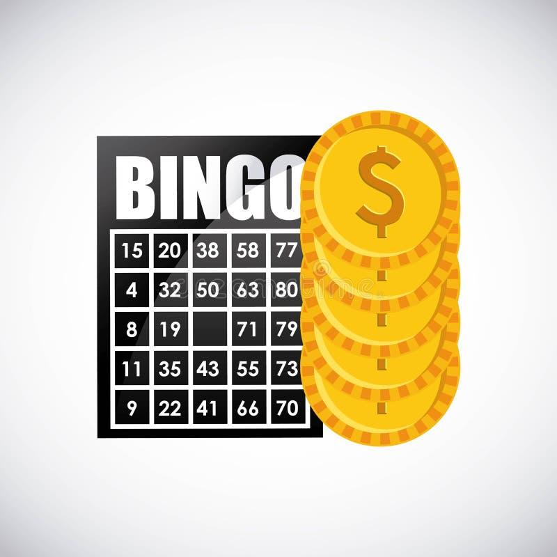 Symbol för Bingokasinolek stock illustrationer