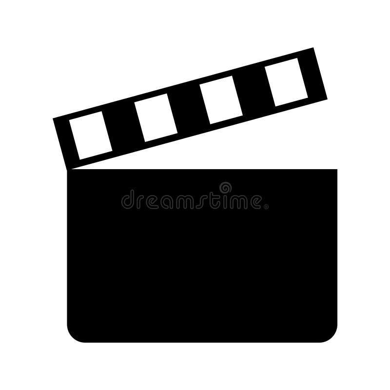 symbol för bio för clapperbräde stock illustrationer