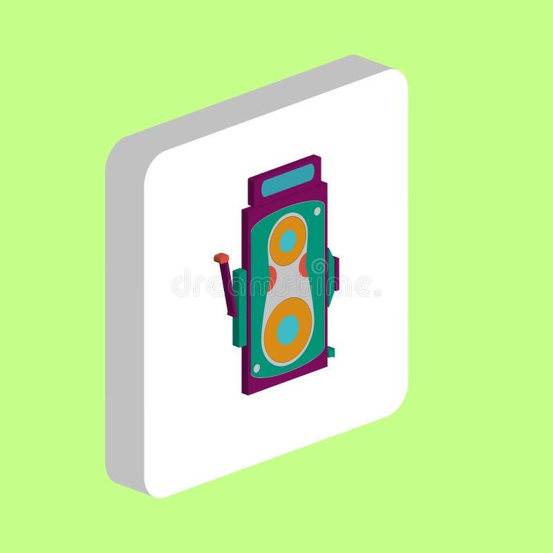 Symbol för biokameradator stock illustrationer