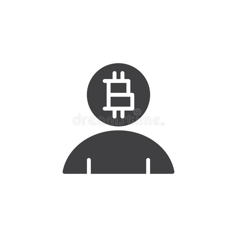 Symbol för Bitcoin användarevektor vektor illustrationer