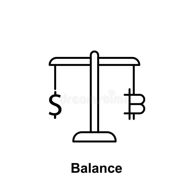 Symbol för Bitcoin jämviktsöversikt Beståndsdel av bitcoinillustrationsymboler Tecknet och symboler kan användas för rengöringsdu vektor illustrationer
