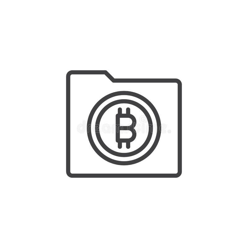Symbol för Bitcoin mappöversikt vektor illustrationer
