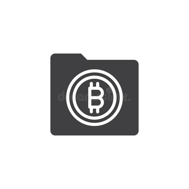 Symbol för Bitcoin mappvektor stock illustrationer