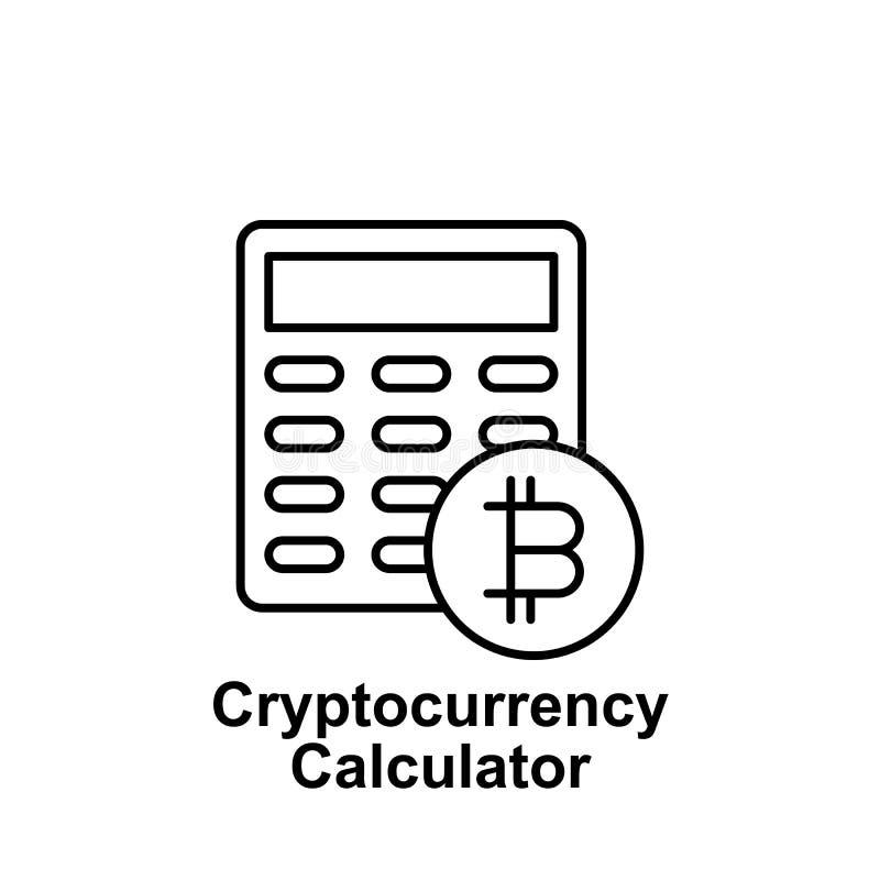 Symbol för Bitcoin räknemaskinöversikt Beståndsdel av bitcoinillustrationsymboler Tecknet och symboler kan användas för rengöring royaltyfri illustrationer