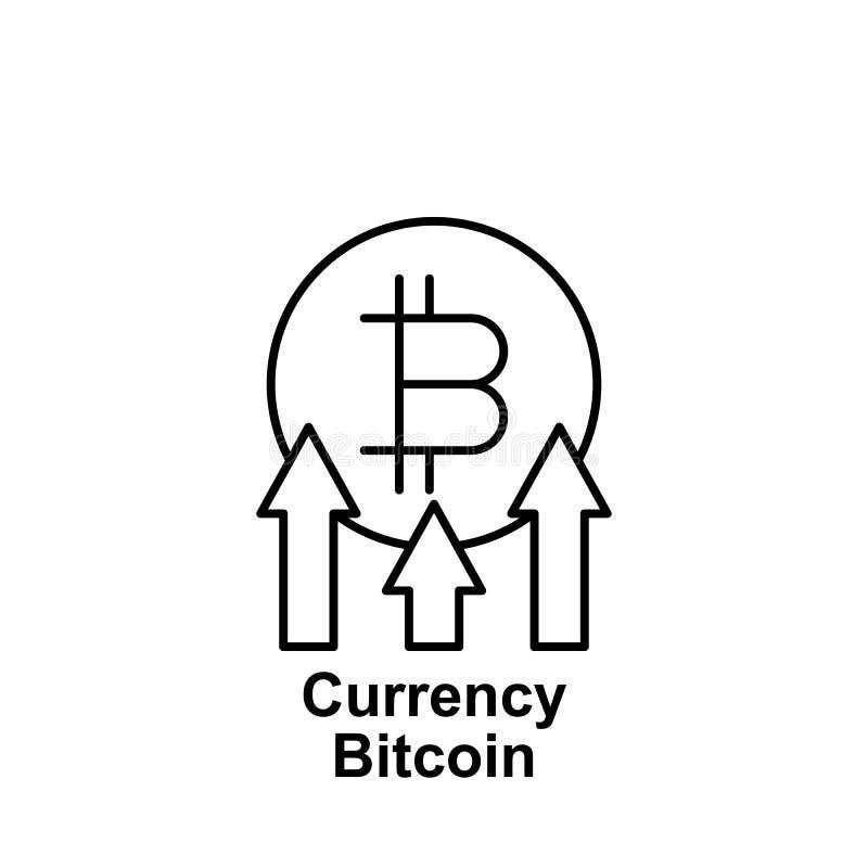 Symbol för Bitcoin valutaöversikt Beståndsdel av bitcoinillustrationsymboler Tecknet och symboler kan användas för rengöringsduke vektor illustrationer