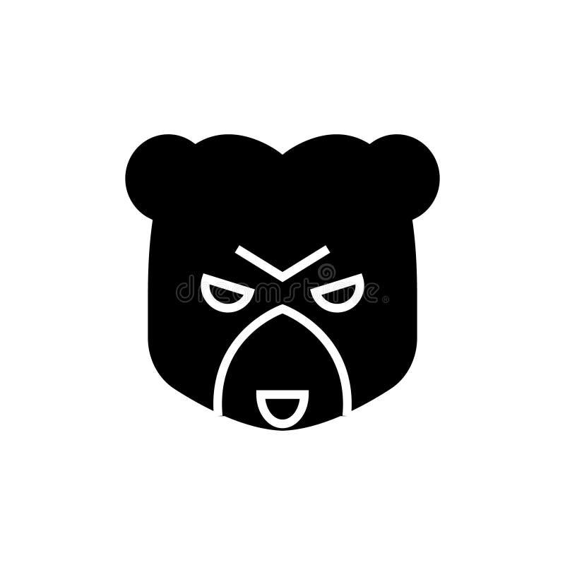 Symbol för björnmarknad, vektorillustration, svart tecken på isolerad bakgrund royaltyfri illustrationer
