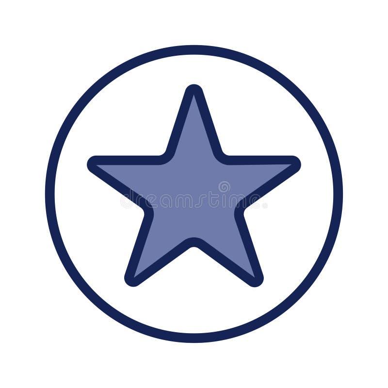 Symbol för blå stjärna som isoleras på vit bakgrund royaltyfri foto
