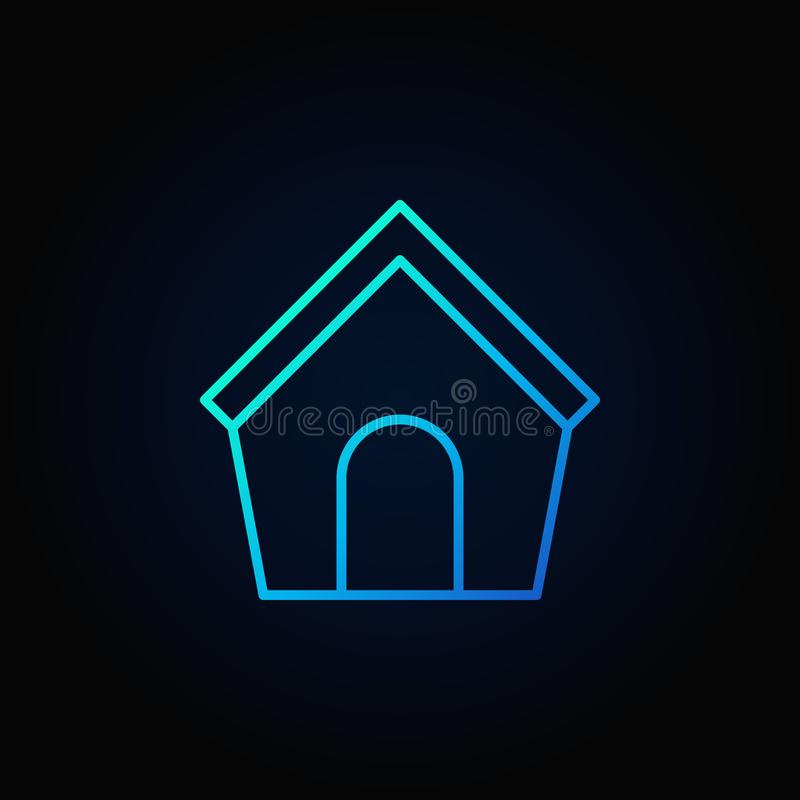 Symbol för blått för hundhus royaltyfri illustrationer
