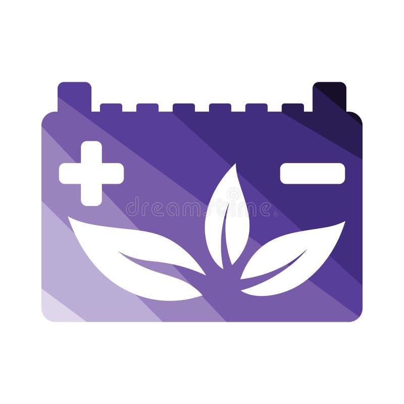 Symbol för blad för bilbatteri royaltyfri illustrationer