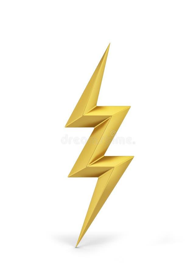 Symbol för blixtbult royaltyfri illustrationer