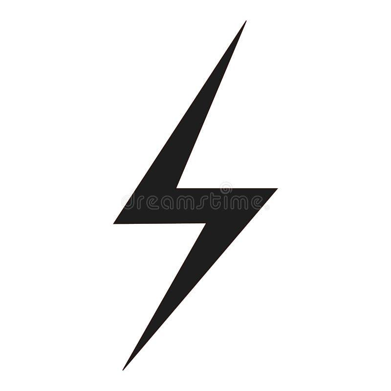 Symbol för blixtbult stock illustrationer
