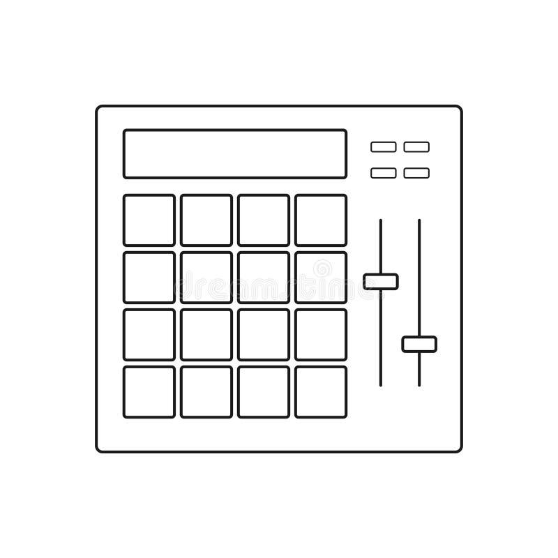 Symbol för block för valsmaskin royaltyfri illustrationer